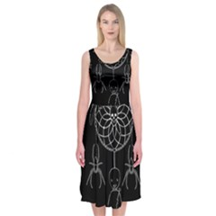 Voodoo Dream Catcher  Midi Sleeveless Dress