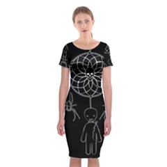 Voodoo Dream Catcher  Classic Short Sleeve Midi Dress
