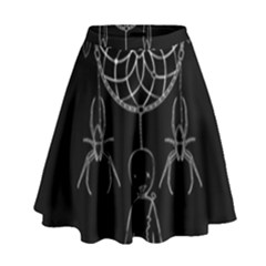 Voodoo Dream Catcher  High Waist Skirt
