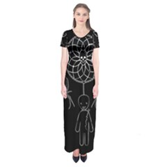 Voodoo Dream Catcher  Short Sleeve Maxi Dress