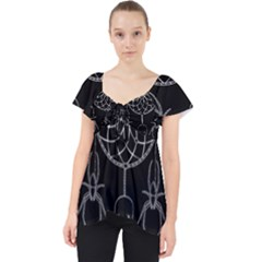 Voodoo Dream Catcher  Lace Front Dolly Top