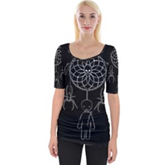 Voodoo Dream Catcher  Wide Neckline Tee