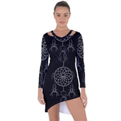 Voodoo Dream Catcher  Asymmetric Cut Out Shift Dress