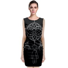 Voodoo Dream Catcher  Sleeveless Velvet Midi Dress