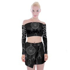 Voodoo Dream Catcher  Off Shoulder Top With Skirt Set