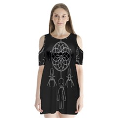 Voodoo Dream Catcher  Shoulder Cutout Velvet  One Piece