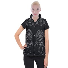 Voodoo Dream Catcher  Women s Button Up Puffer Vest