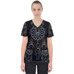 Voodoo Dream Catcher  Scrub Top