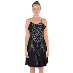 Voodoo Dream Catcher  Ruffle Detail Chiffon Dress