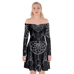 Voodoo Dream Catcher  Off Shoulder Skater Dress
