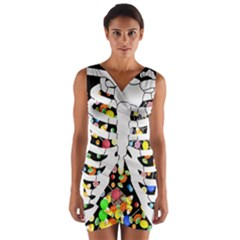 Trick Or Treat  Wrap Front Bodycon Dress