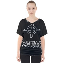 Zodiac Killer  V Neck Dolman Drape Top