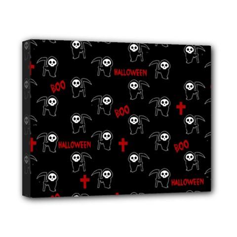 Death Pattern   Halloween Canvas 10  X 8