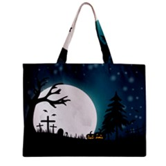 Halloween Landscape Zipper Mini Tote Bag