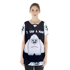 Yeti   I Saw A Man Skirt Hem Sports Top