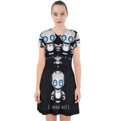 Cute Robot Adorable In Chiffon Dress