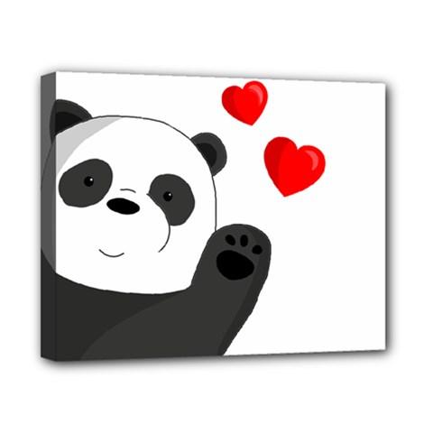 Cute Panda Canvas 10  X 8