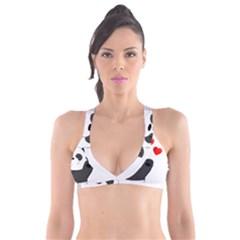 Cute Panda Plunge Bikini Top