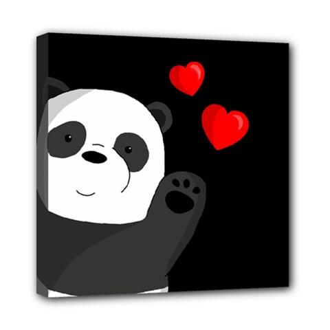 Cute Panda Mini Canvas 8  X 8