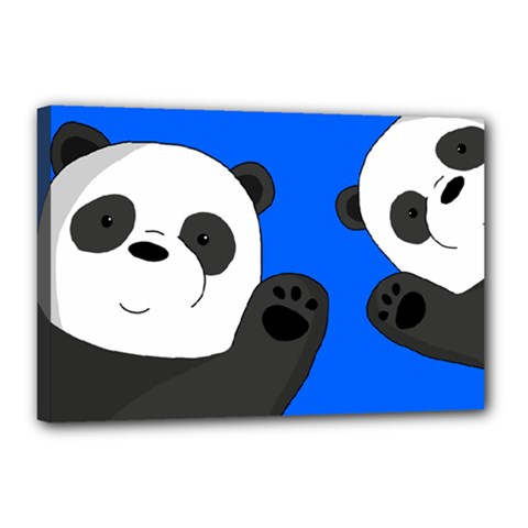 Cute Pandas Canvas 18  X 12