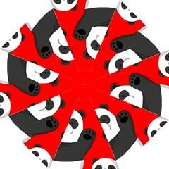 Cute Pandas Hook Handle Umbrellas (medium)