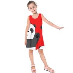 Cute Pandas Kids  Sleeveless Dress