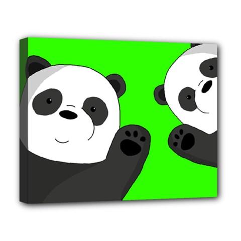 Cute Pandas Deluxe Canvas 20  X 16