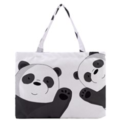 Cute Pandas Zipper Medium Tote Bag