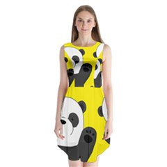 Cute Pandas Sleeveless Chiffon Dress
