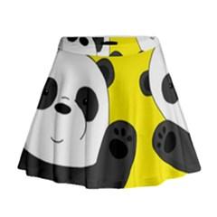 Cute Pandas Mini Flare Skirt