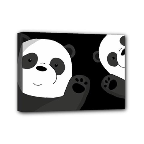 Cute Pandas Mini Canvas 7  X 5