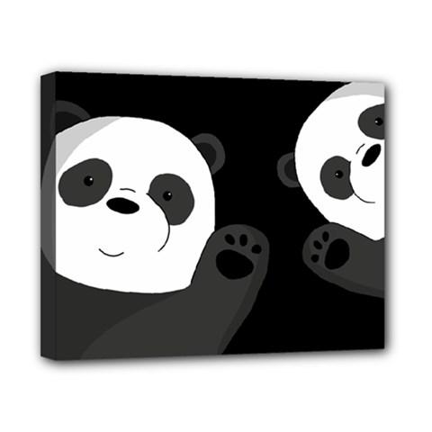 Cute Pandas Canvas 10  X 8