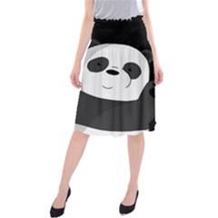 Cute Pandas Midi Beach Skirt