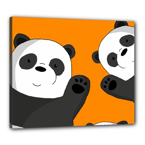 Cute Pandas Canvas 24  X 20