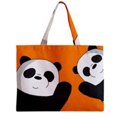 Cute Pandas Zipper Mini Tote Bag