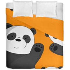 Cute Pandas Duvet Cover Double Side (california King Size)