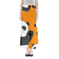 Cute Pandas Full Length Maxi Skirt