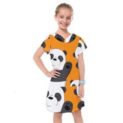 Cute Pandas Kids  Drop Waist Dress