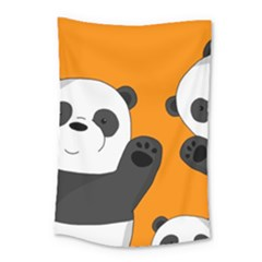 Cute Pandas Small Tapestry
