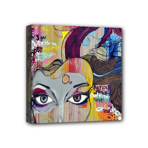 Graffiti Mural Street Art Painting Mini Canvas 4  X 4