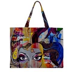Graffiti Mural Street Art Painting Zipper Medium Tote Bag