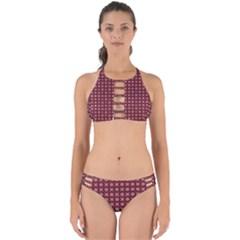 Kaleidoscope Seamless Pattern Perfectly Cut Out Bikini Set