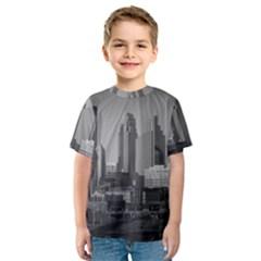 Minneapolis Minnesota Skyline Kids  Sport Mesh Tee