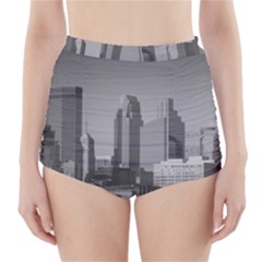 Minneapolis Minnesota Skyline High Waisted Bikini Bottoms