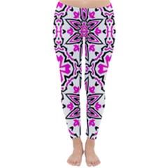 Oriental Pattern Classic Winter Leggings