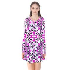 Oriental Pattern Flare Dress