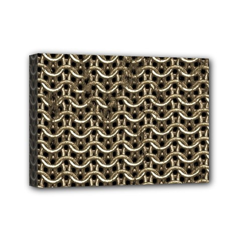 Sparkling Metal Chains 01a Mini Canvas 7  X 5