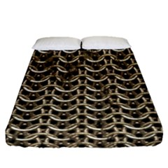 Sparkling Metal Chains 01a Fitted Sheet (queen Size)