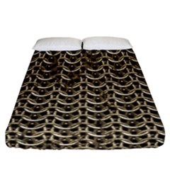 Sparkling Metal Chains 01a Fitted Sheet (california King Size)