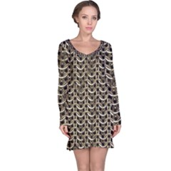Sparkling Metal Chains 01a Long Sleeve Nightdress
